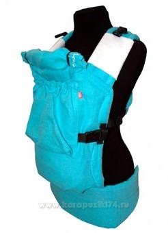 Эрго-рюкзак BiBi (до 18кг) бирюзовый лен