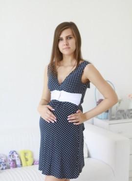 Платье-Каролина-синий-горох