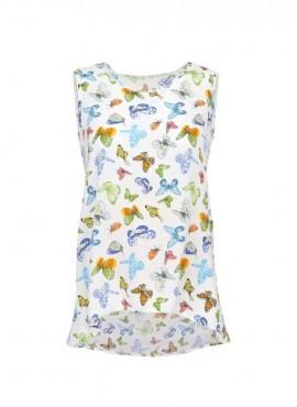 блуза бабочки без рукава