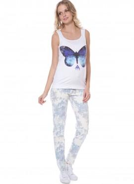 брюки белыес гол цветами