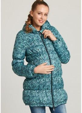 """Куртка """"Виола"""" принт , цв зеленый ."""