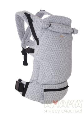 Эрго-рюкзак шарфовый с первых месяцев ДВИЖНЕР Амама, жемчужный