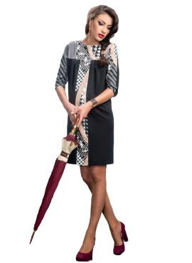 Платье,  Dianora черное с узорами, арт  1363 0896