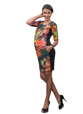 Платье Dianora, цветы 3D, арт 13 990 578