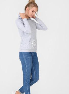 """Лонгслив """"БЭЛЛА"""" для беременных и кормящих, цв-серый меланж, арт-101664"""