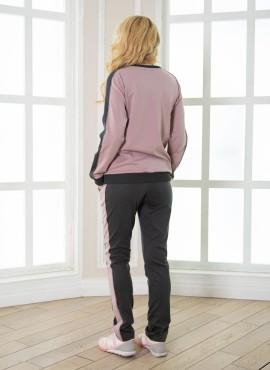 Комплект Мия для беременных, цв-серый/пудра, ТМ Мамуля красотуля