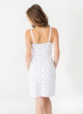 """Ночная рубашка """"Baby"""", зайцы на белом, арт 24124"""