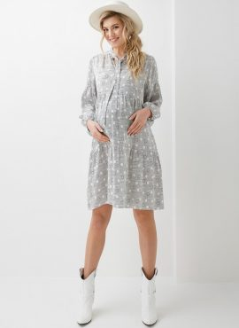 Платье для беременных и кормящих, Dianora, арт 2004 1301, цв-серый