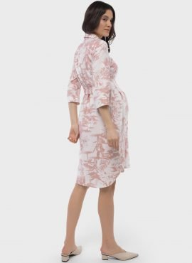 """Платье-рубашка для беременных и кормления """"Донна"""", пудровый"""