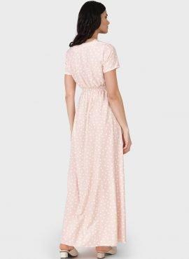 """Платье """"Брук"""" для беременных и кормящих, цвет-пудровый"""