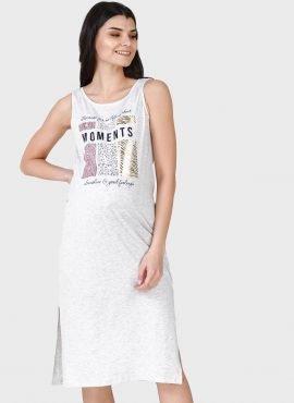 """Трикотажное летнее платье-майка для беременных и кормления """"Элеонора"""""""