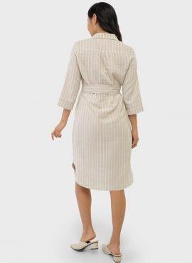 """Платье-рубашка для беременных и кормления """"Донна"""", бежевый"""