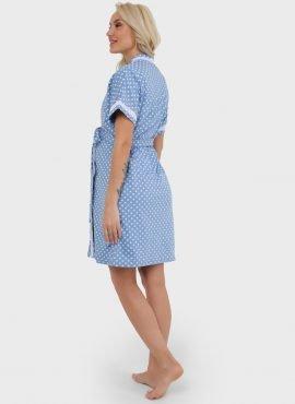 """Комплект для роддома """"Элизе"""" для беременных и кормящих, цвет-голубой горох"""