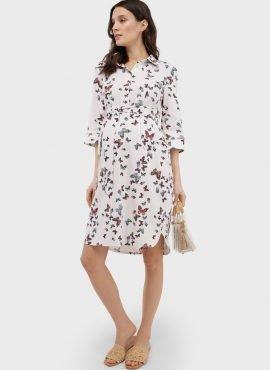 """Льняное летнее платье-рубашка для беременных и кормления """"Донна"""""""