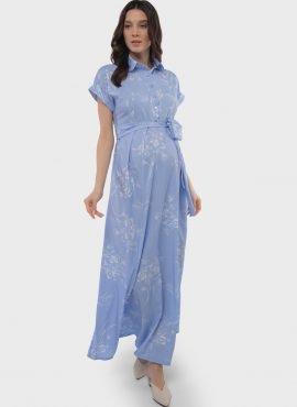 """Платье для беременных и кормления """"Аламанни"""", цвет-голубой"""