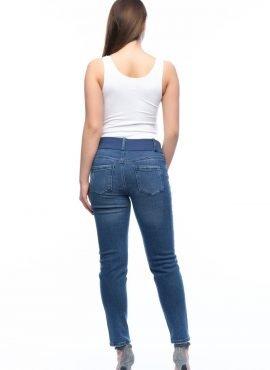 Брюки джинсовые,цвет-синий