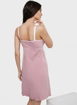 """Ночная сорочка """"Дольче"""" для беременных и кормящих; пудровый"""