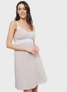 """Ночная сорочка """"Дольче"""" для беременных и кормящих; бежевый"""
