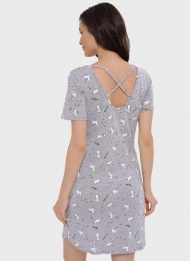 """Ночная сорочка """"Мелания"""" для беременных и кормящих, цвет-серый"""