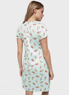 """Ночная сорочка """"Роксолана"""" для беременных и кормящих, бирюзовый"""