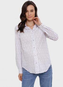 """Рубашка с длинным рукавом для беременных и кормления """"Арина"""", цвет-белые буквы"""