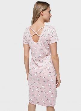 """Платье домашнее """"Энди"""" для беременных и кормящих; пудровый"""