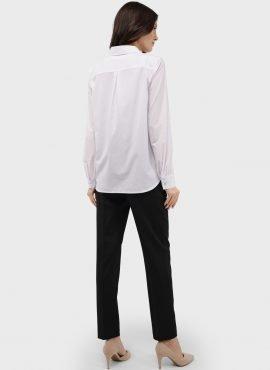 """Рубашка с длинным рукавом для беременных и кормления """"Арина"""", цвет-белый"""