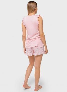 """Пижама  для беременных и кормления """"Лия"""", цвет-пудровый"""