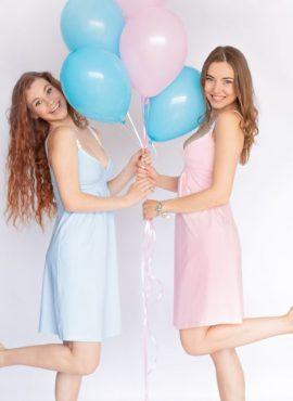 Ночная рубашка для беременных и кормящих Меланж,арт 25202, цвет-голубой