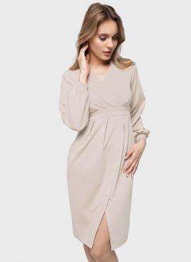 """Платье """"Кэрол"""" для беременных и кормящих, цвет-бежевый"""