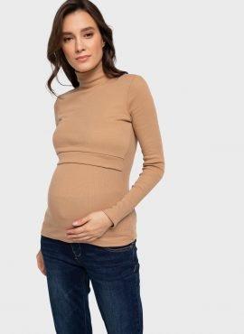"""Водолазка утепл. """"Кейтлин"""" для беременных и кормящих, цвет-бежевый"""