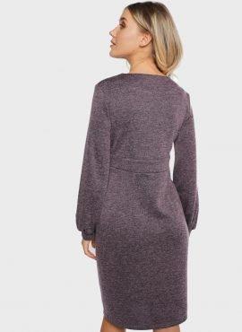 """Платье """"Элла"""" для беременных и кормящих, цвет-сливовый"""