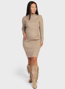 """Платье """"Беатрис"""" для беременных и кормящих, цвет-кофейный"""