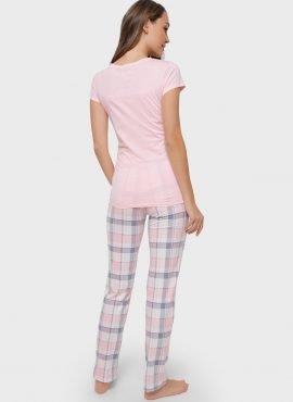"""Комплект для дома """"Стивен"""" для беременных и кормящих, цвет- серо/розовый"""
