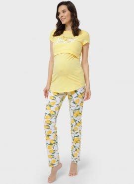 """Комплект для дома """"Стивен"""" для беременных и кормящих, цвет-желтый"""