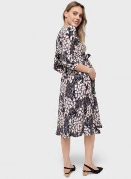 """Платье """"Ариэль"""" для беременных и кормящих; черный"""