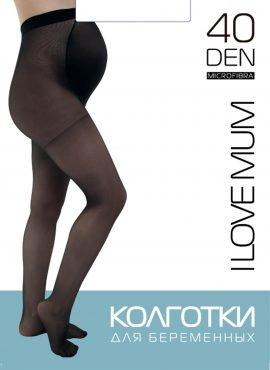 Колготки для беременных 40 den; черный