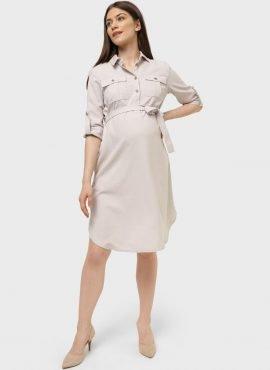 Платье «Эстель» для беременных и кормящих, цвет- бежевый
