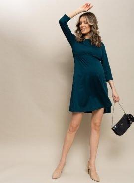 Платье «Алиша» для беременных и кормящих; атлантик