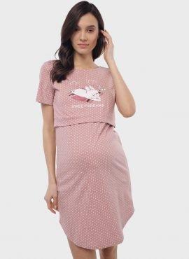 Ночная сорочка «Мелания» для беременных и кормящих; пудровый