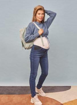 Джинсы «Стайл 037» для беременных, цвет- темный деним