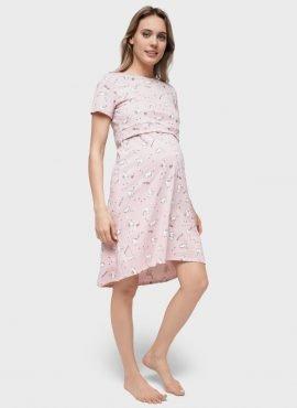 Платье домашнее «Энди» для беременных и кормящих; пудровый