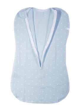 Муслиновая пеленка - кокон «Babyedel» голубой, звезды