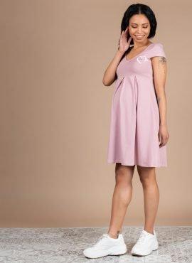 Платье «Вербена» для беременных; пудровый