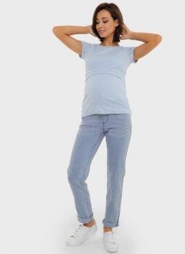 Джинсы «Стайл 036» для беременных, цвет- светлый деним