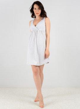 Ночная сорочка «Оливия» для беременных и кормящих; серый горох