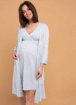 Комплект для роддома «Айрис» для беременных и кормящих, цвет- сер.горох