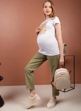 Джинсы «Стайл 043» для беременных, цвет- хаки