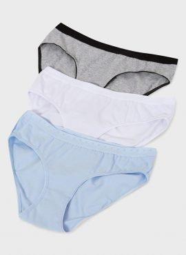Набор трусов «Пэм» 3 шт. для беременных; белый,синий,серый