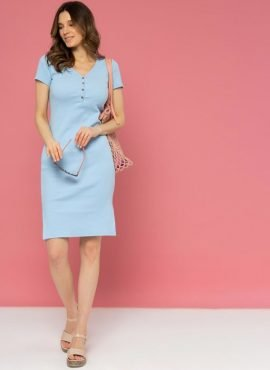 """Платье """"Алиса"""" для беременных и кормления, цвет-голубой"""